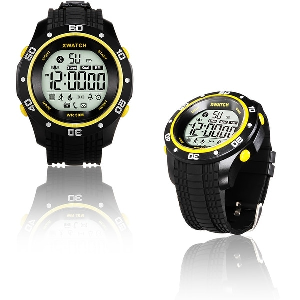 Indigi® Rugged Sports Waterproof Bluetooth 4.0 X-Watch w/ Pedometer + Calorie Counter + Call/SMS Notification