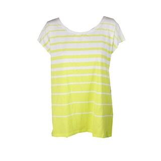 Lauren Ralph Lauren Bright Green Striped Jersey T-Shirt XS