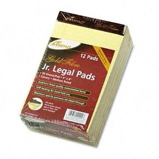 Gold Fibre Writing Pads- Jr. Legal Rule-5 x 8- Canary- 50-Sheet
