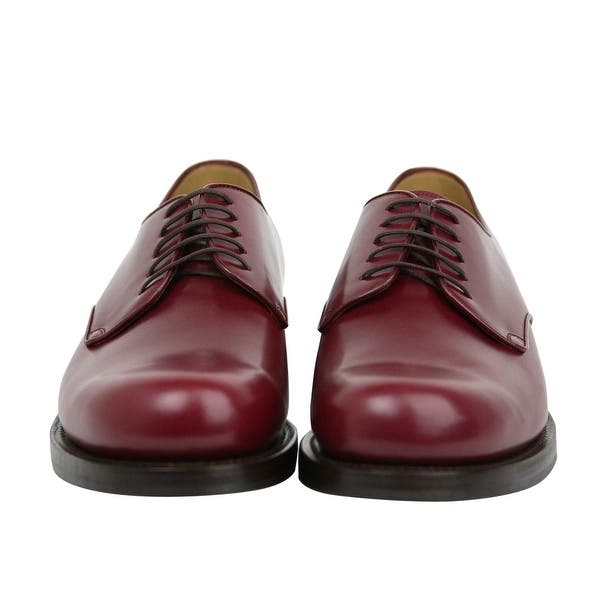 Shop Gucci Lace Up Bordeaux Leather Dress Shoes 353021 6237