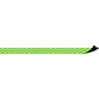 Teacher Created Resources Magnetic Border, Lime Green Chevron, Pack of 12