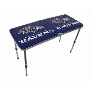 NFL Folding Tailgate Table - Baltimore Ravens - Multicolored