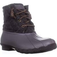 Sperry Saltwater Short Rain Boots, Quilt Wool Grey