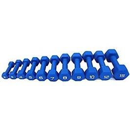 Apollo Athletics Blue Neoprene Dumbbell, 9 lb