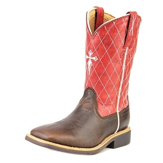 Twisted X Cowkids Work Youth Square Toe Leather Red Western Boot