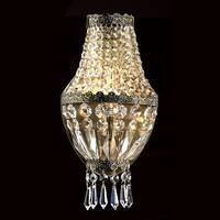 "Worldwide Lighting W23086AB6 Metropolitan 1 Light 6"" ADA Wall Sconce in Antique Bronze with Clear Crystals"