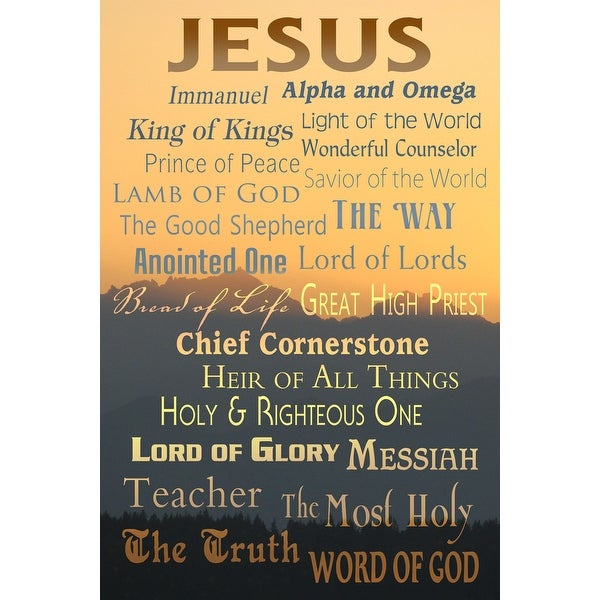Names of God - Inspirational - LP Artwork (100% Cotton Towel Absorbent)