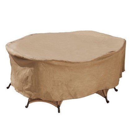 "Budge P5A13SF1-N Oval Or Rectangular Patio Set Cover, 112"" x 84"" x 30"""