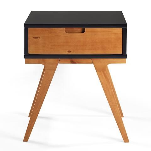 Carson Carrington Bridge Leg Wood Side Table