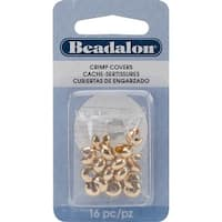 Gold-Plated Crimp Covers-7mm 16/Pkg - Gold