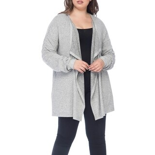 Bobeau Delanie Ruched Sleeve Plus Size Cardigan
