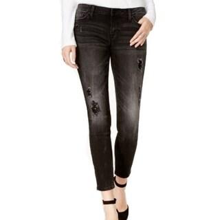 members only women 39 s 5 pocket distressed skinny jeans. Black Bedroom Furniture Sets. Home Design Ideas