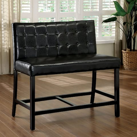 Furniture of America Brell Black 2-Seater Counter Height Chair