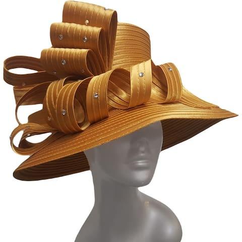 Women's Year-round Designer Couture Satin Ribbon Derby Hat