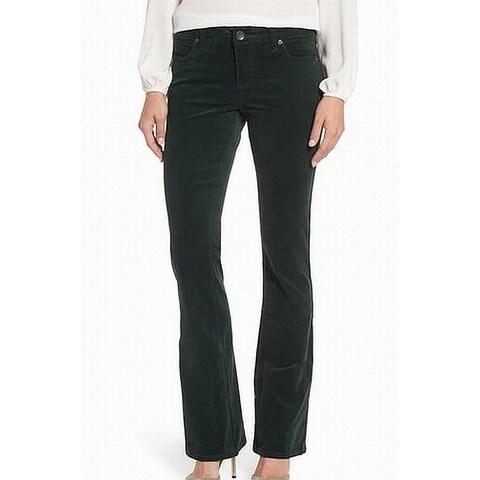 Kut From The Kloth Green Womens Size 0 Corduroys Karen Bootcut Pants