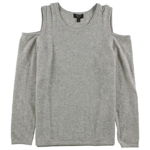 Charter Club Womens Cold-Shoulder Sweatshirt, Grey, X-Large
