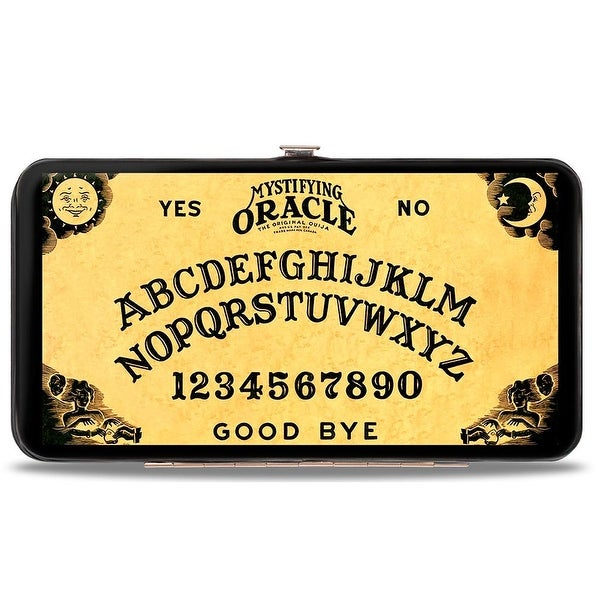 Mystifying Oracle Ouija Board Elements Natural Black Hinged Wallet - One Size Fits most