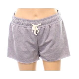 Alternative NEW Heather Gray Womens Size Large L Terry Bermuda Shorts