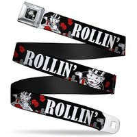Mr. Monopoly Thumbs Up Pose Full Color Black Grays Mr. Monopoly Rolling Seatbelt Belt