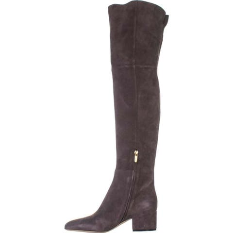Sergio Rossi Womens Virginia Suede Suede Closed Toe Over Knee Fashion Boots - 10