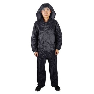 Mefine Authorized Outdoor Raincoat Poncho Jacket Trouser Suit Navy Blue XL