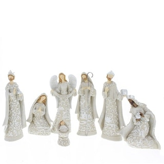 7 Piece Cream Nativity Set