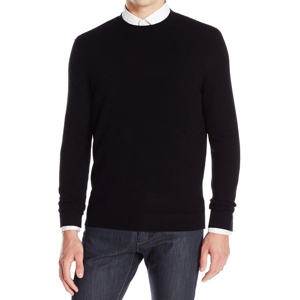 58550bdbaa1 Theory NEW Deep Men  x27 s Black Size Medium M Crewneck Cashmere Sweater