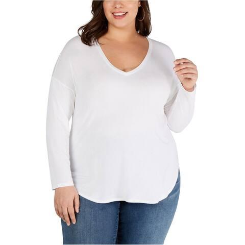 I-N-C Womens Tail Basic T-Shirt