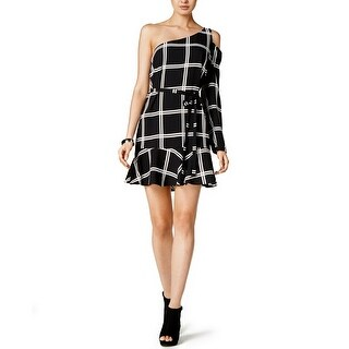 Bar III Printed One Shoulder Dress - l
