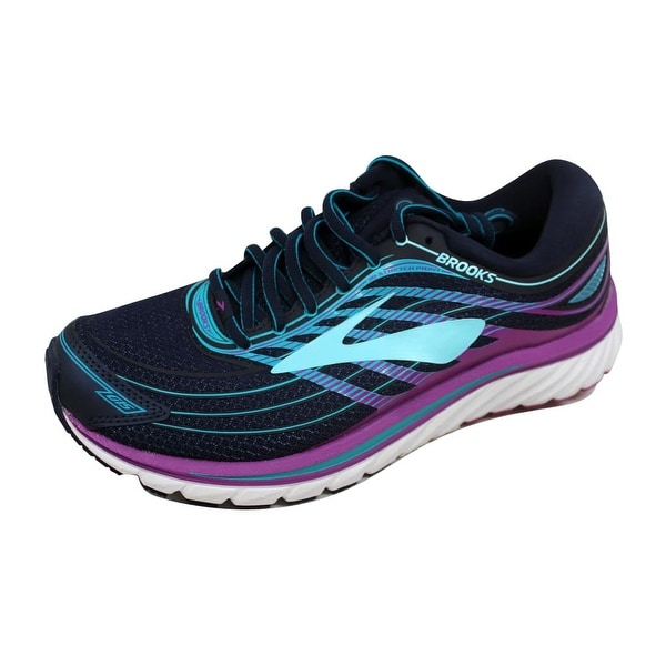 905dad80d0f Brooks Women  x27 s Glycerin 15 Evening Blue Purple Cactus Flower-Teal