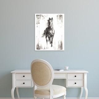Easy Art Prints Ethan Harper's 'Rustic Black Stallion I' Premium Canvas Art