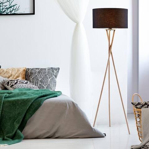 Archiology Wooden Tripod Floor Lamp,Mid-Century Modern Standing Lamp