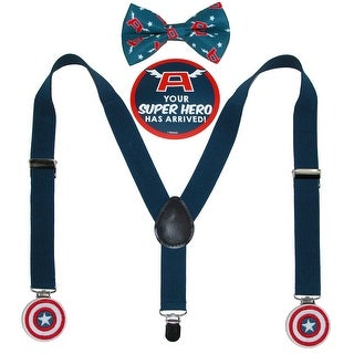 Marvel Infant's Captain America Bowtie & Suspender Set