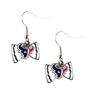 Houston Texans NFL Bow Tie Earring Dangle