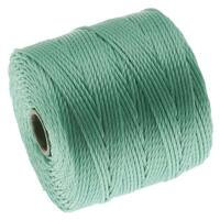 BeadSmtih Super-Lon (S-Lon) Cord - Size 18 Twisted Nylon - Turquoise / 77 Yard Spool