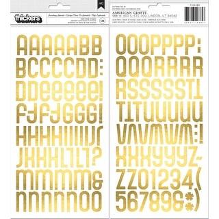 American Crafts Foam Alphabet Stickers 136/Pkg-Something Splendid W/Gold Foil