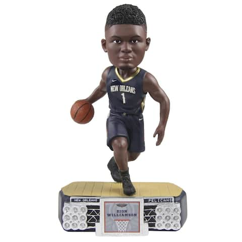 New Orleans Pelicans Zion Williamson #1 Stadium Lights NBA Resin Bobblehead - Blue