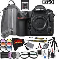 Nikon D850 DSLR Camera (Body Only) 1585 International Model + Nikon EN-EL15a Rechargeable Lithium-Ion Battery Bundle