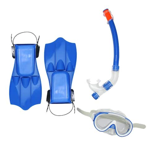 Blue Caribbean Junior Water or Swimming Pool Scuba or Snorkeling Set - Medium