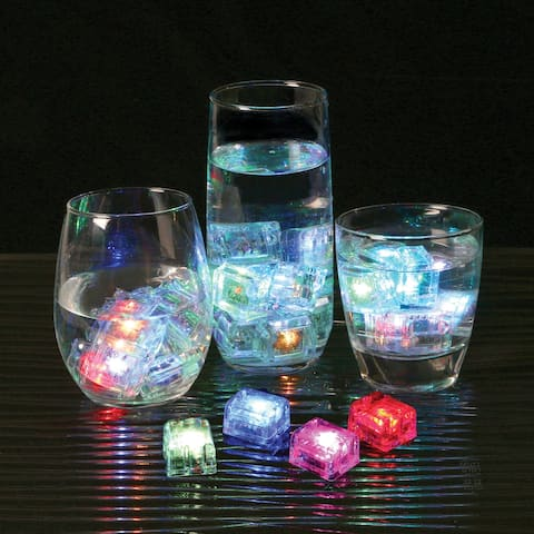 Vibe GloCubes Light-Up Drink Cubes - LED Drink Markers Party Decor - Multicolor