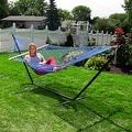 Sunnydaze Caribbean XL Rope Hammock with Spreader Bars - Multiple Colors Availab - Thumbnail 20