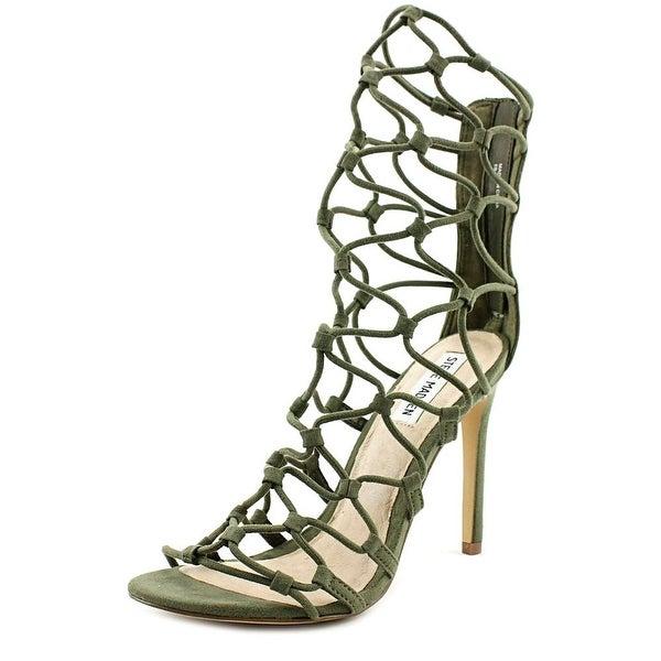 8203fb79ca3 Shop Steve Madden Mayfair Women Open Toe Suede Green Sandals - Free ...