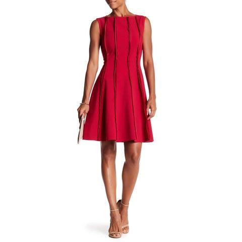 Jason Wu Raspberry Pink Womens Size 8 Frayed Trim A-Line Dress
