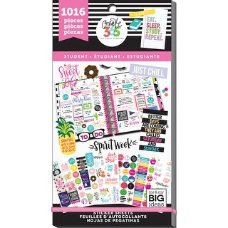 Happy Planner Sticker Value Pack-Student, 1016/Pkg