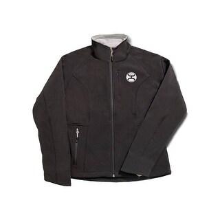 HOOey Jacket Womens Zip Front Hand Pockets Fleece Lined Black HJ017BK