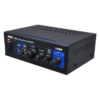 Mini Stereo Power Amplifier - 2 x 40 Watt with AUX, CD & Mic Inputs