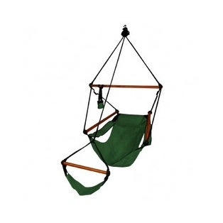 Hammaka Strong & Comfort Hanging Chair Wood Dowels for Indoor/Outdoor - Forest Green