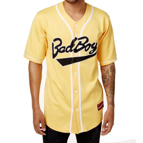 Shop BAD BOY COLLECTION White Mens Baseball Jersey Shirt - On Sale - Free  Shipping On Orders Over  45 - Overstock - 26900173 624e3911d