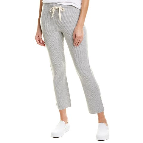 Monrow Ribbed Wool & Cashmere-Blend Sweatpant