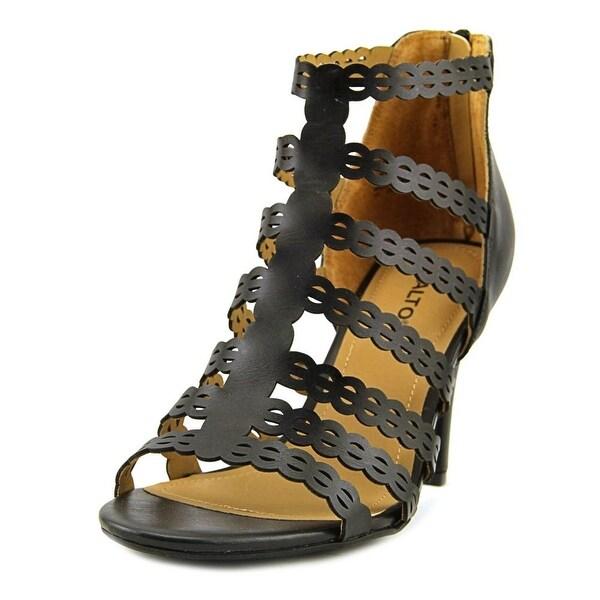 Rialto Roma Women Open Toe Synthetic Black Sandals
